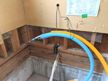 浴室施工中